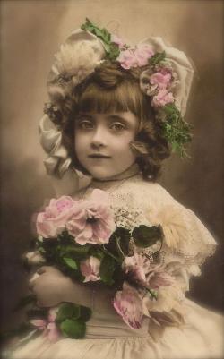 girl w/flowers